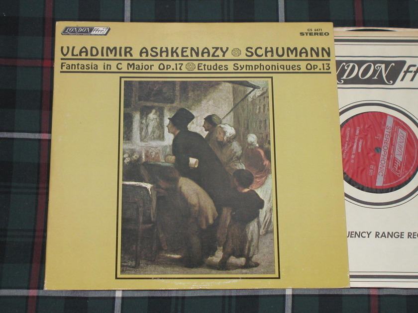 "Vladimir Ashkenazy    Schumann ""Fantasia in C - Major Op.17""+ ""Etudes Symphoniques op.13"" London CS 6471 FFRR from '70s. UK/DECCA pressing"