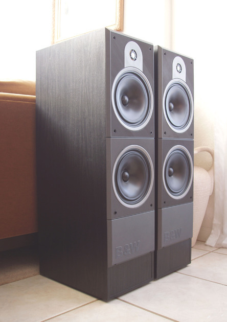Superb B&W / Bower & Wilkins DM630 Bi-Wire / Bi-Amp Tower Speakers in Dark Grey - MSRP $1,100