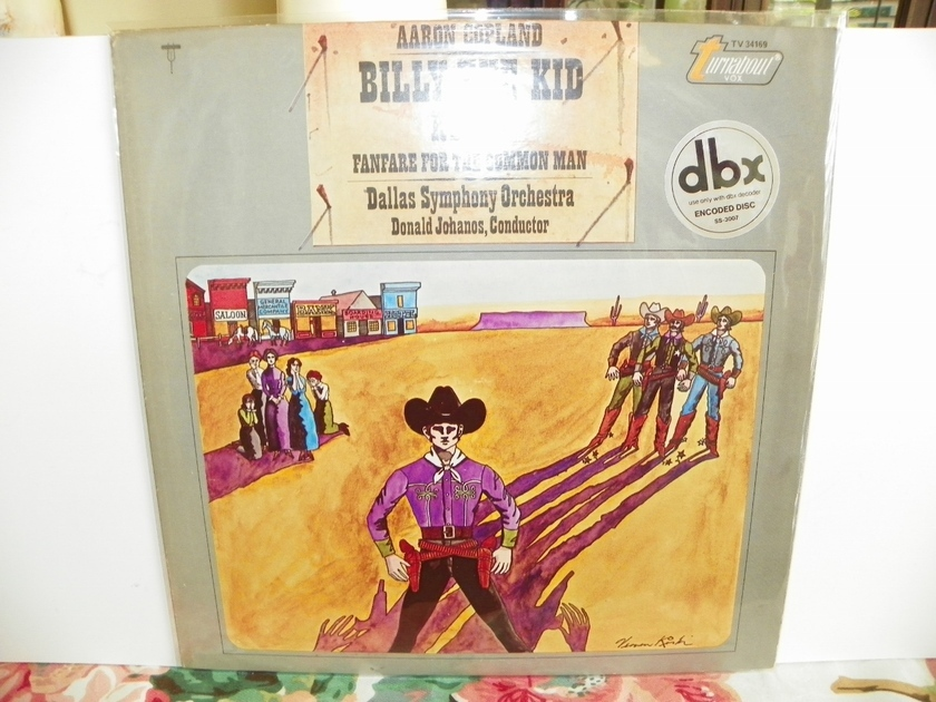 DALLAS SYMPHONY ORCHESTRA - AARON COPELAND/BILLY THE KID RODEO dbx ENCODED-Pressing is NM
