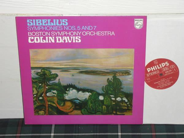 Davis/Boston Symphony Orchestra - Sibelius Symphonies No 5&7 Philips import pressing 6500
