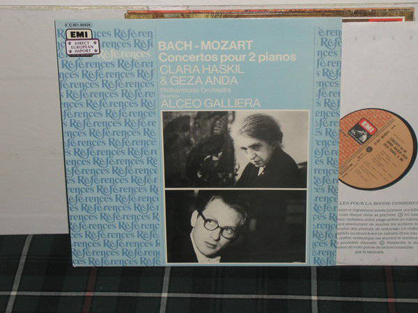 Galleria/Clara Haskil/PO - Bach/Mozart Ctos for 2 pianos EMI/France LP  PM 322