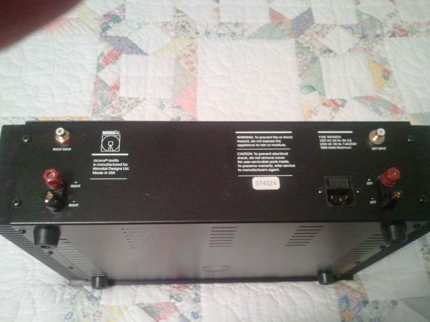 Acurus by Mondial A-200 200 wpc power amp