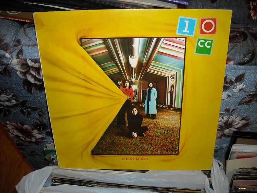 10 CC - Sheet Music UK Records  LP (c)