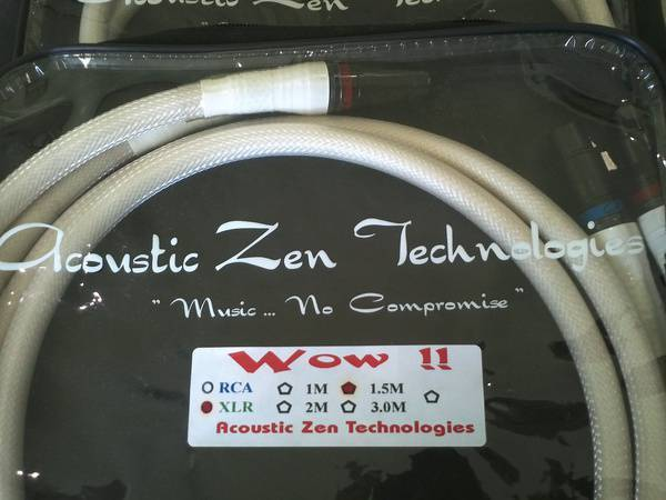 Acoustic Zen Wow Balanced Interconnects