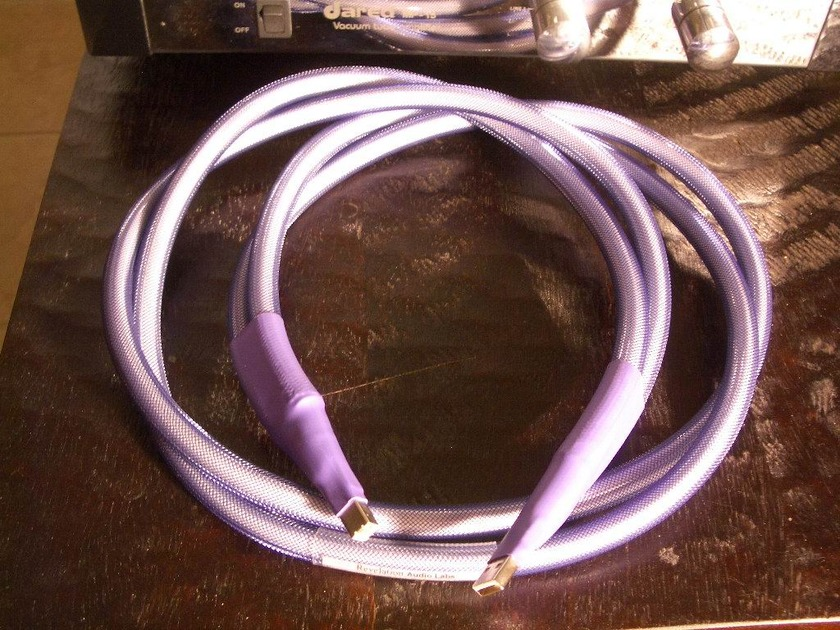 """New"" Revelation Audio Labs ""Prophecy"" Dual Conduit USB 2.0 Cryo Treated 5N Solid Silver"