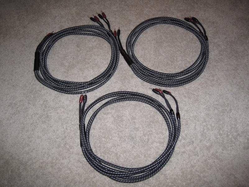 Audioquest Type 8, 10' Speaker cable pair Double Bi-Wired, Banana both ends - SF Bay Area