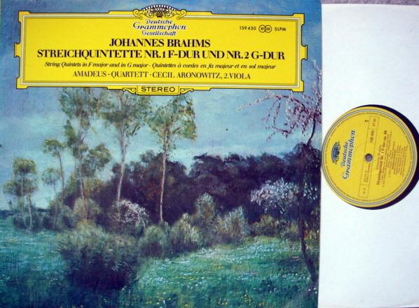 DGG / Brahms String Quintets No.1 & 2, - AMADEUS QUARTET, NM!