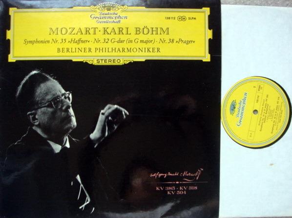DGG / Mozart Symphonies No.32, 35 & 38, - BOHM/BPO, MINT!