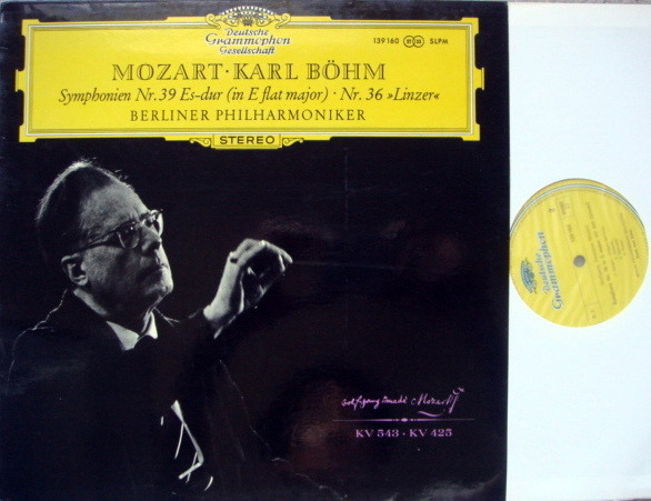 DGG / Mozart Symphonies No.36 & 39, - BOHM/BPO, MINT!