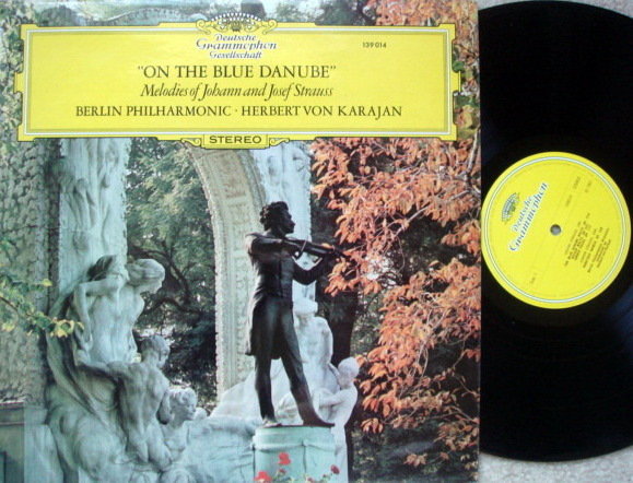 DGG / Strauss On the Blue Danube, - KARAJAN/BPO, MINT, UK Press!