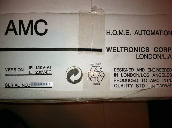 Weltronics amc  120V-A1 weltronics amc stereo dac 8 co