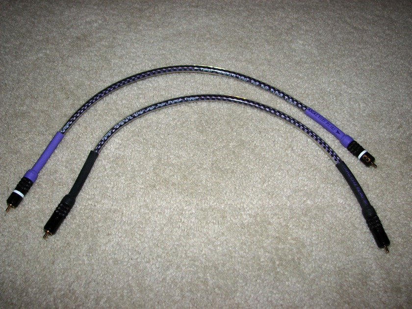 Analysis Plus .5m RCA Solo Crystal Oval Interconnect