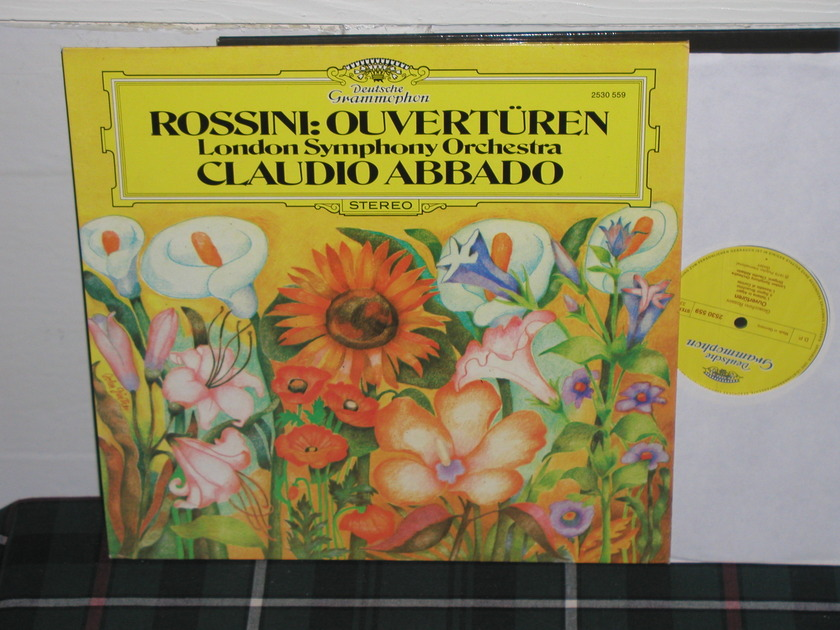Abbado/LSO - Rossini Overtures DG german import  press