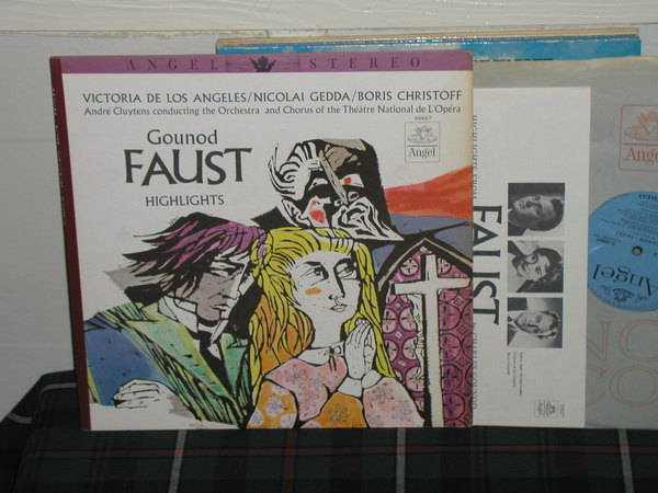 Cluytens/OaCTNdL'O - Gounod Faust Blue/Silver Angel LP from 60's.