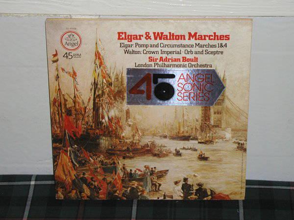 Boult/LPO - Elgar/Walton Angel Sonic 45rpm sq quad