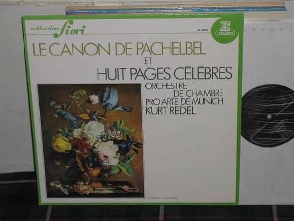 Redel/OdCPAM - Pachelbel Kanon RCA/Erato france import.
