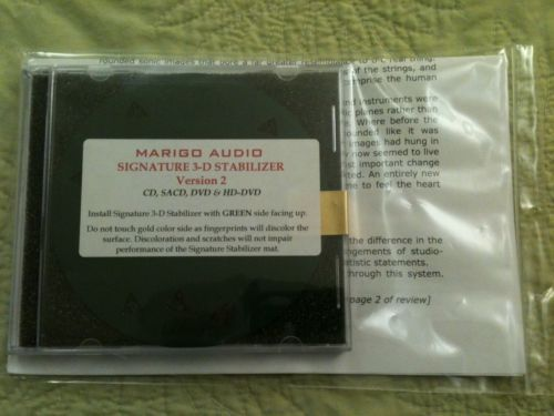 Marigo Audio Signature 3-D v2 Stabilizer Mat BRAND NEW IN PACKAGE