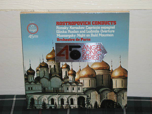 Rostropovich/ODP - Rimsky/Glinka Angel Sonic 45rpm sq quad