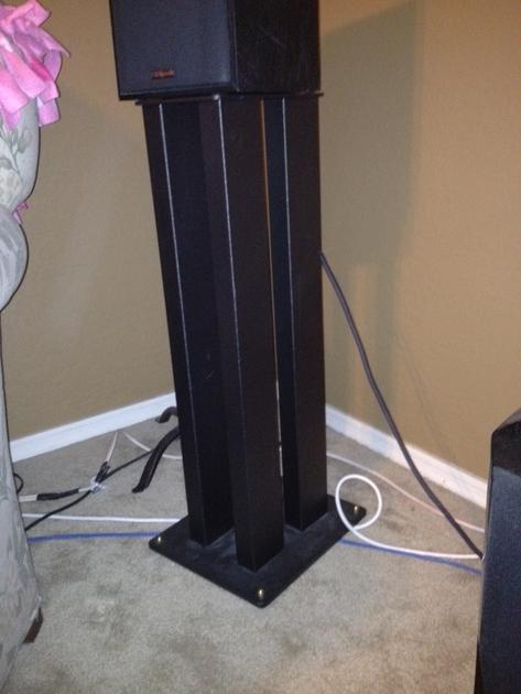 Totem TS4 Speaker Stands 4 Post Stands - Filled - Trades?