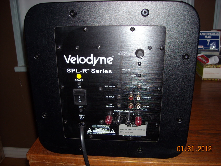 "Velodyne  SPL-1000 Series ll 10"" woofer black gloss cabinet, class D amp."