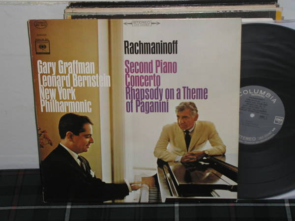 Graffman/Bernstein - Rachmaninoff Columbia 360 1st labels LP