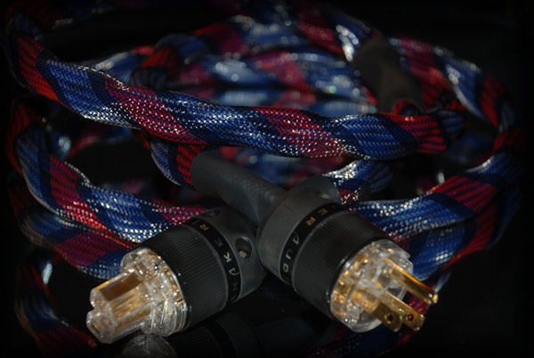 Snake River Audio -  Cottonmouth - 24k gold - 2 m Power Cable