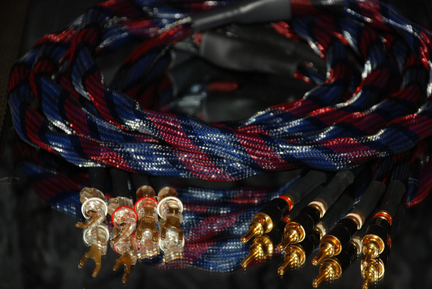 Snake River Audio -  Cottonmouth - 24k gold - 3m Speaker Cables