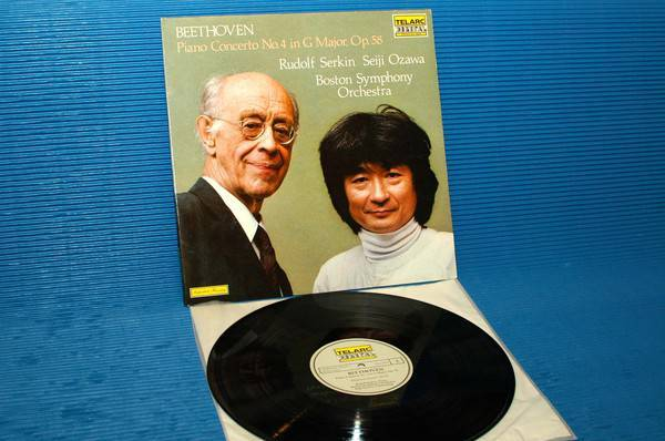 "BEETHOVEN/Serkin/Ozawa -  - ""Piano Concerto No. 4"" -  Telarc German import 1982"
