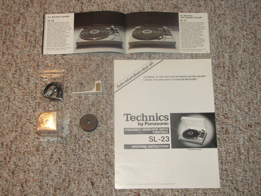 Technics Belt Drive Turntable SL-23 Perfect Condition with upgrades!