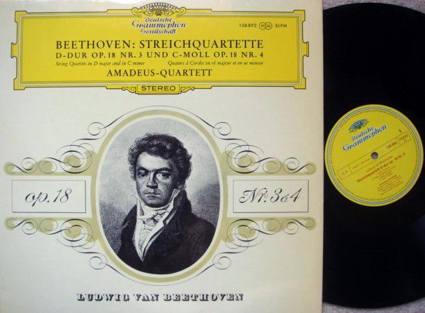 DGG / Beethoven String Quartets No.3 & 4, - AMADEUS QUARTET, MINT!