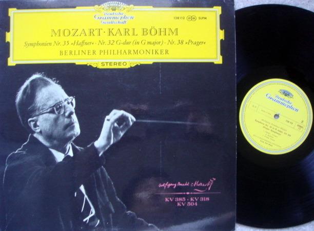 DGG / Mozart Symphonie No.32, 35 & 38, - BOHM/BPO, MINT!