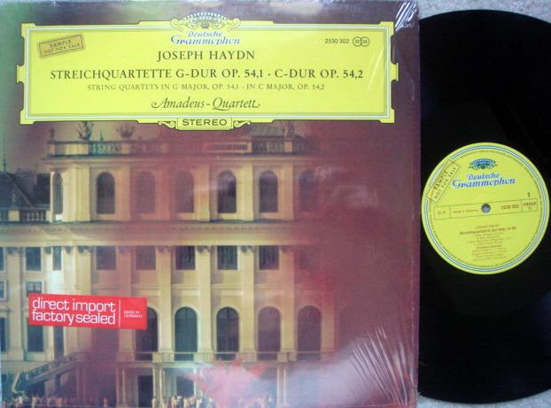 DG / Haydn String Quartets Op.54 No.1 & 2, - AMADEUS QUARTET, MINT, Promo Copy!