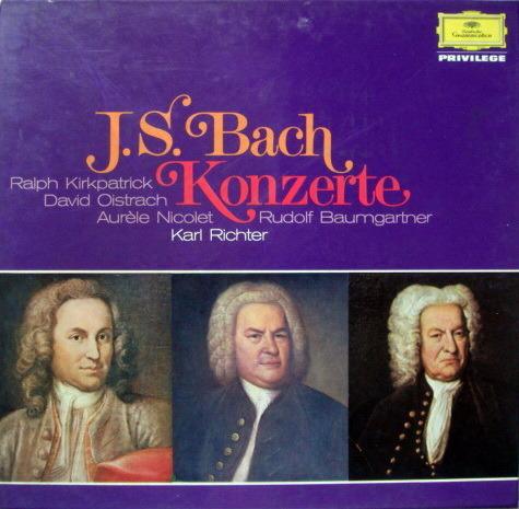 DG / Bach Concertos, - OISTRACH/KIRKPATRICK, MINT, 2LP Box Set!
