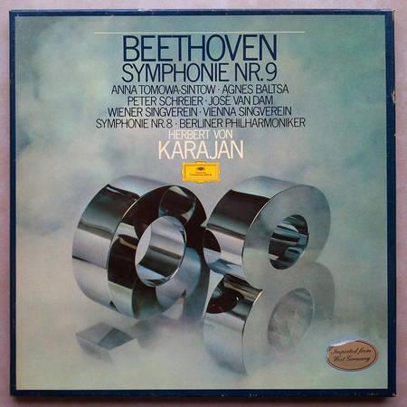 DG/Karajan/Beethoven - Symphonies Nos.8 & 9 / 2-LP Box Set / NM