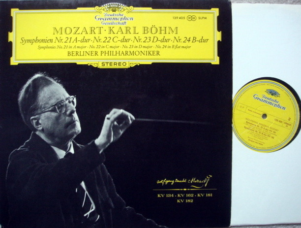DGG / Mozart Symphonies No.21~24, - BOHM/BPO, MINT!