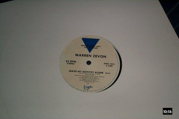 Warren Zevon - Leave My Monkey alone 12 inch promo 45rpm
