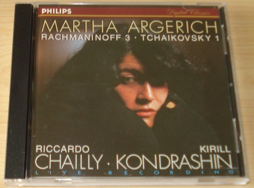 Martha Argerich - Rachmaninoff 2 Tchaikovsky 1 Philips Pressing CD