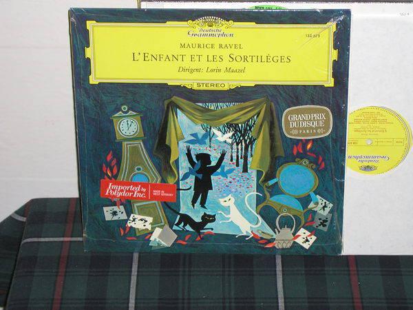 Maazel/ON/Paris - Ravel L'Enfant DG german import  press