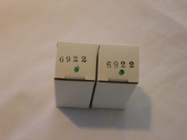 Audio Research NOS 6922 factory replacement tubes  - Pair (2)