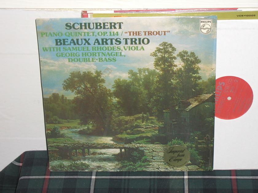 Beaux Arts Trio  - Schubert  Trout Philips Import Pressing 9500