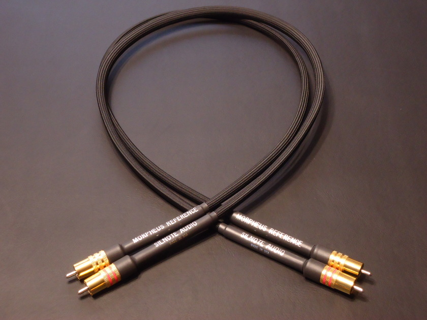 SILNOTE AUDIO CABLES Morpheus Reference Cardas RCA 24K Gold/Silver 1 meter pair Excellent reviews on SILNOTE AUDIO CABLES!!