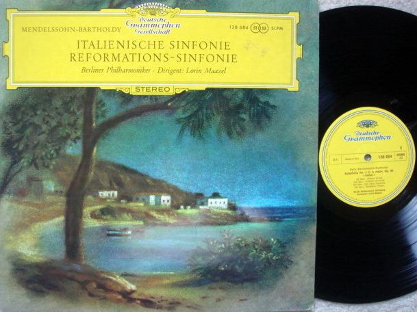 DGG / Mendelssohn Symphony No.4 & 5, - MAAZEL/BPO, MINT!