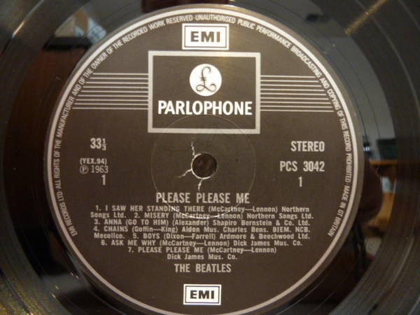 Beatles - Please Please Me UK press!