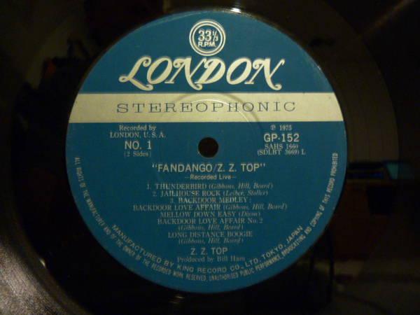 ZZ Top - Fandango! Japanese London Blue label