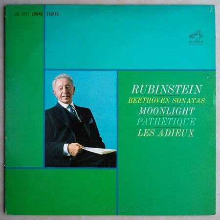 RCA Shaded Dog/Rubinstein/Beethoven - Sonatas: Moonlight, Pathetique, Les Adieux / EX