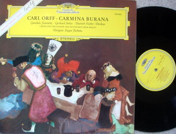 DG / Orff Carmina Burana, - JOCHUM/JANOWITZ/FISCHER-DIESKAU, MINT, TAS Recommended!