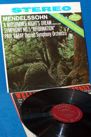 "MENDELSSOHN/Paray - - ""A Midsummer Night's Dream"" -  Mercury Living Presence 196? early pressing"