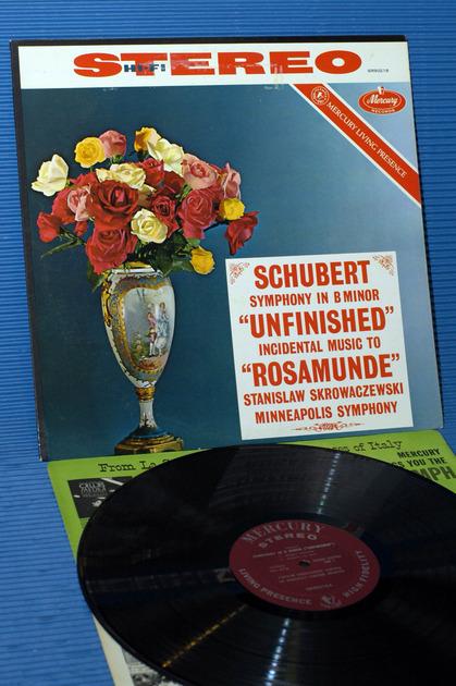 "SCHUBERT/Skrowaczewski -  - ""Unfinished Symphony"" -  Mercury Living Presence 1960s early pressing"