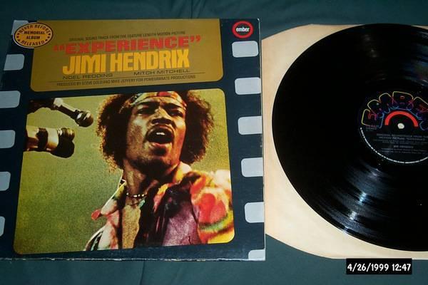 Jimi Hendrix - UK LP soundtrack to the film experience nm
