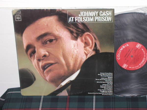 Johnny Cash - At Folsom Prison Columbia 360  labels from 60's